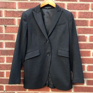 Theory Blazer Wool Stretch 2 Button Suit Jacket